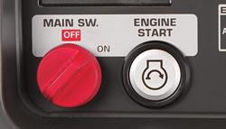 Convenient push button electric start