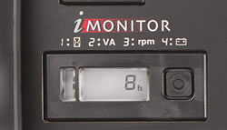 <em>i</em>-Monitor system tracks hours, RPM, battery volts, and wattage