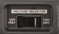120/240V Selector switch - More usable power, more flexibility