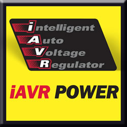 Consistent power with iAVR (Intelligent Automatic Voltage Regulation) technology