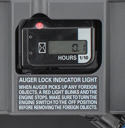 Hour Meter with Auger Lock Indicator Light (HS1332ATD only)