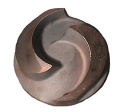 Unique conical shaped impeller