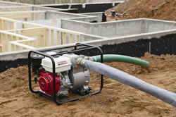 "Heavy-duty 4"" construction trash pump"